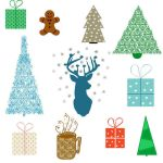 Christmas Clipart by CinnamonCoffeeStudio