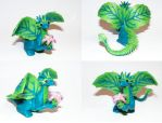 Polymer Clay Dragon - Flora the Leaf Drakeling by clmoore1035
