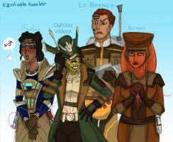 SWTOR: Republic Ladies by carrinth