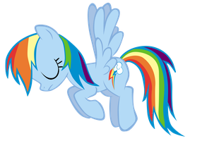Rainbow Dash vector with no clever title by Fluttertroll