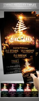StarDust Christmas Party Flyer Template by si-ajidz
