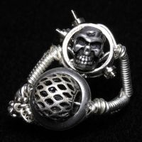 Cyberpunk Skull Ring by CatherinetteRings