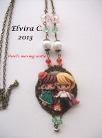 Howl's moving castle necklace by elvira-creations