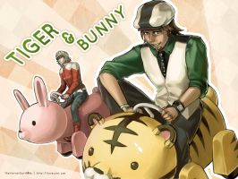Tiger and Bunny mobiles by Shattered-Earth