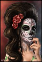 Day Of The Dead by ReneCampbellArt