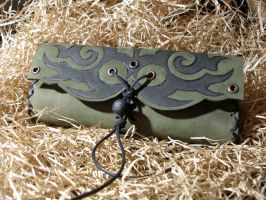 Tribal tobacco leather pouch by morgenland