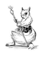 Squirrel Mage Inks by Stungeon