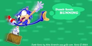 Dumb Sonic Running by Gx3RComics