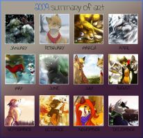Summary of Art 2009 by SilverDeni