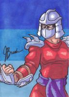Sketch Card #15 - Shredder by JasonRocket