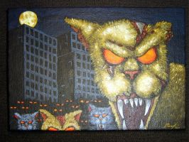 Zombie Cat Apocalypse by ReverendBonobo