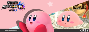Super Smash Bros. For Wii U/3DS - Kirby FBCover by egallardo26