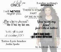 'Tattoo' Lyric brushes by daydream--believer