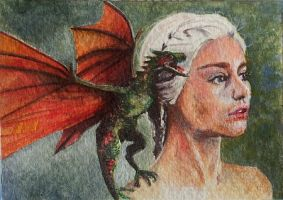 Daenerys - watercolor - fan art by Giselle-M