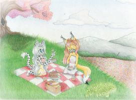A Picnic Under the Cherry Blossom by AeternumLuminis