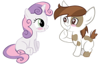 Request #43 ~ Sweetie Belle + Pipsqueak ~ by Radiant--Eclipse