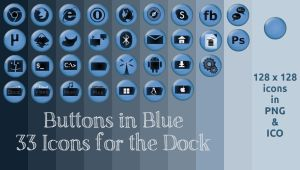 Buttons in Blue by rvc-2011