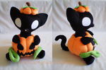 Halloween Pumpkin Pussycat Plush by sugarstitch