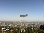 Alien ship view from Griffith Observatory by ArceusofDoom