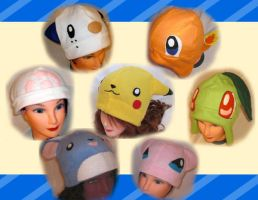 Pokemon Hats by CL-Pinkskull