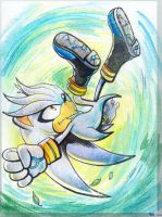 Silver the Hedgehog (for JemiDove) by Liris by Liris-san
