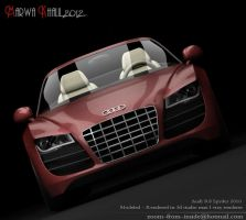 Audi r8 spyder (front) by zoom-from-inside