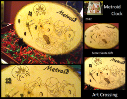 Metroid Clock by LilPKCreations