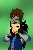 Pumpkin and Toma by Margaret-Lupin