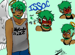 doodles of my character Issac by StarshineTheCat1
