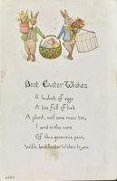 Best Easter Wishes - Bunny Duo by Yesterdays-Paper