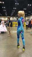 Megacon Zero suit Samus by kingofthedededes73
