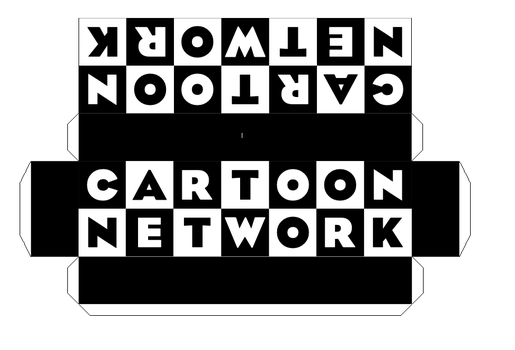 Cartoon Network logo papercraft by Fabricio2000