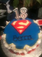 Superman Cake o.o by LosingAndFailing