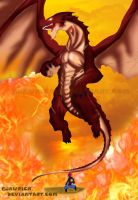 Fairy Tail 400 - Natsu and Igneel - Wings of Hope! by Ejawrich