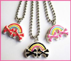 Rainbow Necklaces by cherryboop