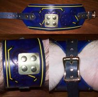 Blue Steampunk Wristband by Steampunked-Out