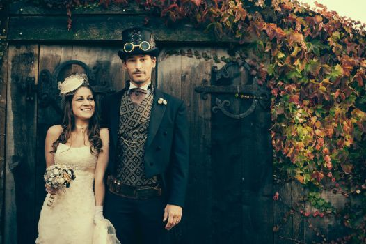 Paul and Danielle Steampunk Wedding by HyperXP