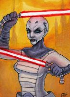 Asajj Ventress ACEO by AokiBengal