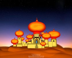 Aladdin temple by injured-eye