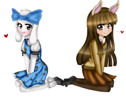 Sr. Conejo y Brulette Speedpaint by Ice-Chi