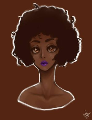Afro Portrait by ebeadles