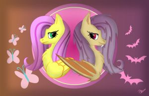 The Sides Of Two Flutters (wallpaper) by 0Gamex0