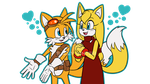 Tails and Zooey by SallyVinter