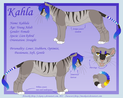 Commission- Kahlula Reference Sheet by Kamis-Cafe