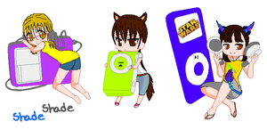 Chibis with Ipod by reku89
