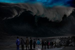 The Great Wave Returns to Kanagawa by jesus-at-art