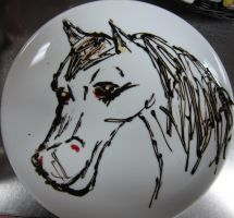 Horse Cake Plate by Adriellovesart