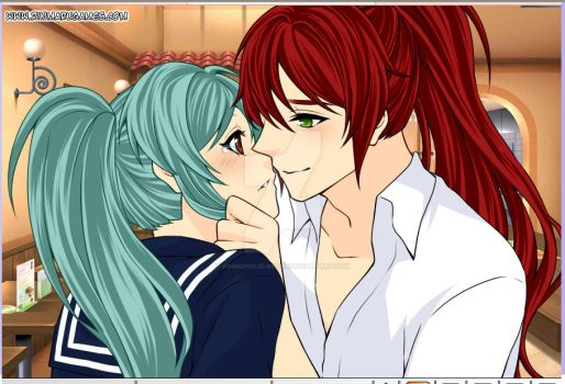 a moment of confession:Kurama And Botan by Animoholic-Redux