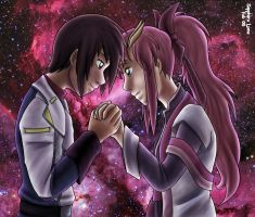 Commission - Kira and Lacus by sapphireluna