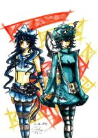 :HollowBand: Lucy and Bella by rabbittheking